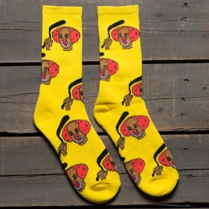 40s and Shorties Homie SOcks (yellow) 1S