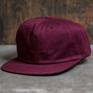 Undefeated Apology Strapback Cap (burgundy)
