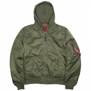 Alpha Industries Men MA1 Natus Jacket (green / sage / rust)
