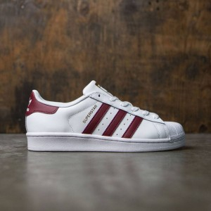 Adidas Women Superstar (white / collegiate burgundy / gold metallic)