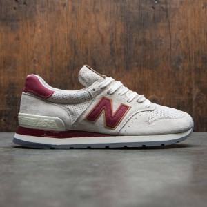 New Balance Men 995 Desert Heat M995CJB - Made In USA (tan / angora / mercury red)