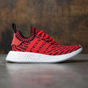 Adidas Men NMD R2 Primeknit (red / core red / footwear white)