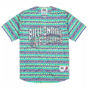 Billionaire Boys Club Men Lightyears Jersey (green / white / pattern)