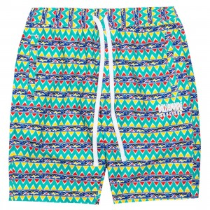 Billionaire Boys Club Men Bel Air Shorts (green / white / pattern)