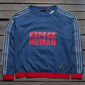 Adidas x Pharrell Williams Women Hu Race Sweatshirt (navy / night marine / scarlet)