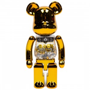 Medicom Super Alloyed My First Bearbrick Baby Gold Silver 200% Bearbrick Figure (gold / silver)