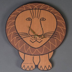 Medicom x Karimoku x SYNC x Lisa Larson Lion Wall Clock (brown)