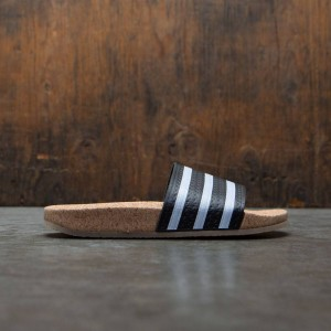 Adidas Women Adilette Cork W (black / footwear white / gum)