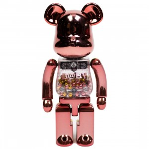 Medicom Super Alloyed My First Bearbrick Baby Pink Gold 200% Bearbrick Figure (pink / gold)