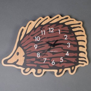 Medicom x Karimoku x SYNC x Lisa Larson Hedgehog Wall Clock (brown)