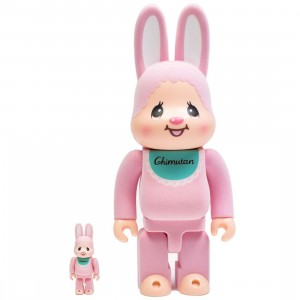 Medicom Usagi No Chimutan 100% 400% Rabbrick Figure Set (pink)