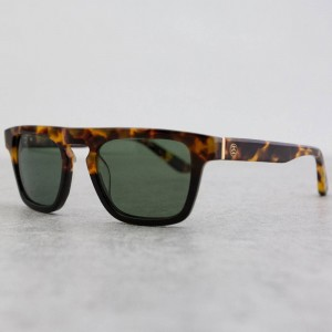 Stussy Louie Sunglasses (green / tortoise fade)