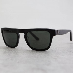 Stussy Louie Sunglasses (matte black / black)