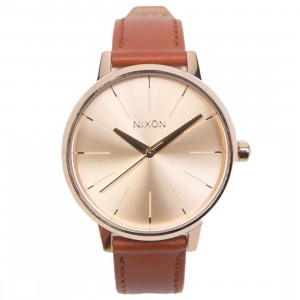 Nixon Kensington Leather Watch (gold / rose gold)
