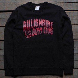 Billionaire Boys Club Men BB Digi Arch Logo Crew Sweater (black)