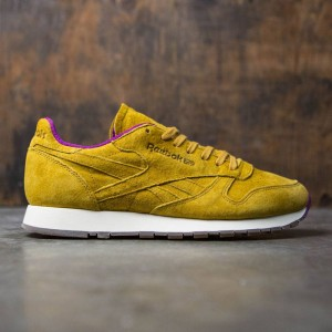 Reebok Men CL Leather - MSP (khaki / fuschia / white)
