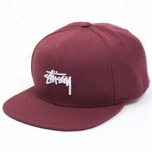 Stussy Fall 2017 Stock Cap (burgundy)