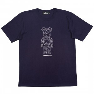 Medicom x Fragment Design Men Be@rtee Polygon Tee (navy)