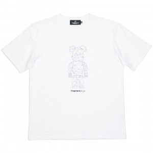 Medicom x Fragment Design Men Be@rtee Polygon Tee (white)