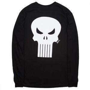 BAIT x Marvel Punisher Men Skull Long Sleeve Tee (black)