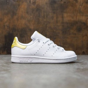 Adidas Big Kids Stan Smith (white / footwear white / gold metallic)