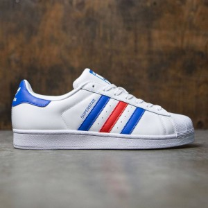 Adidas Men Superstar (white / blue / red)