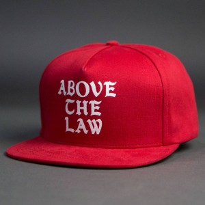 Acapulco Gold Above The Law Snapback Cap (red)