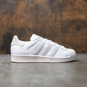 Adidas Women Superstar (white / linen green / ice purple)