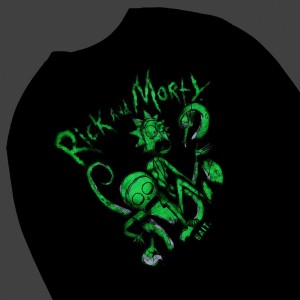BAIT x Rick and Morty Men Tentacles Glow In The Dark Long Sleeve Tee (black)