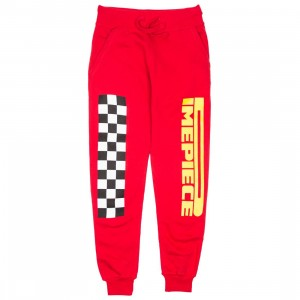 Dimepiece Women Dimepiece Checkers Sweat Pants (red)