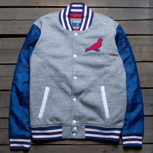 Staple Men True Blue Varsity Jacket (gray / heather)