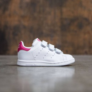 Adidas Toddlers Stan Smith CF I (white / bopink)