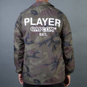BAIT x Street Fighter Men Capcom Player Jacket (camo)