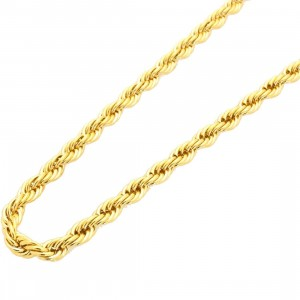 Veritas Aequitas 30 Inch Rope Necklace (gold)