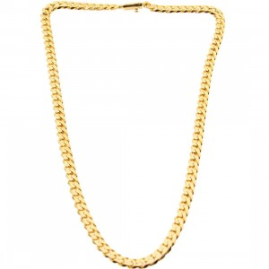 Veritas Aequitas Veritas Cuban Necklace (gold)