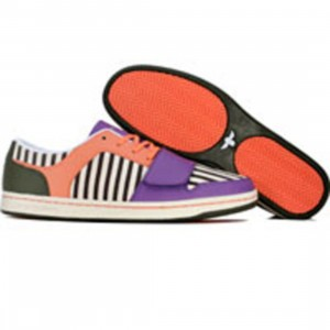 Creative Recreation Womens Cesario Low (grape / salmon / military green / stripes)