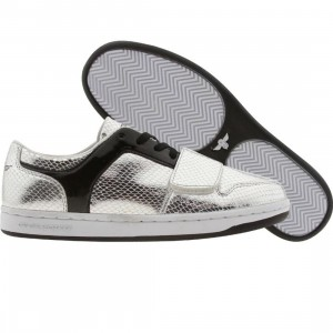 Creative Recreation Womens Cesario Low (silver snake / black patent)