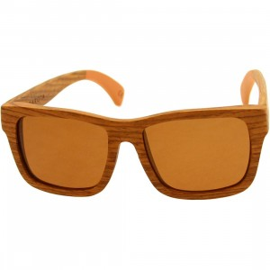 Woodzee Dakota Pear Wood Dip Sunglasses (orange)