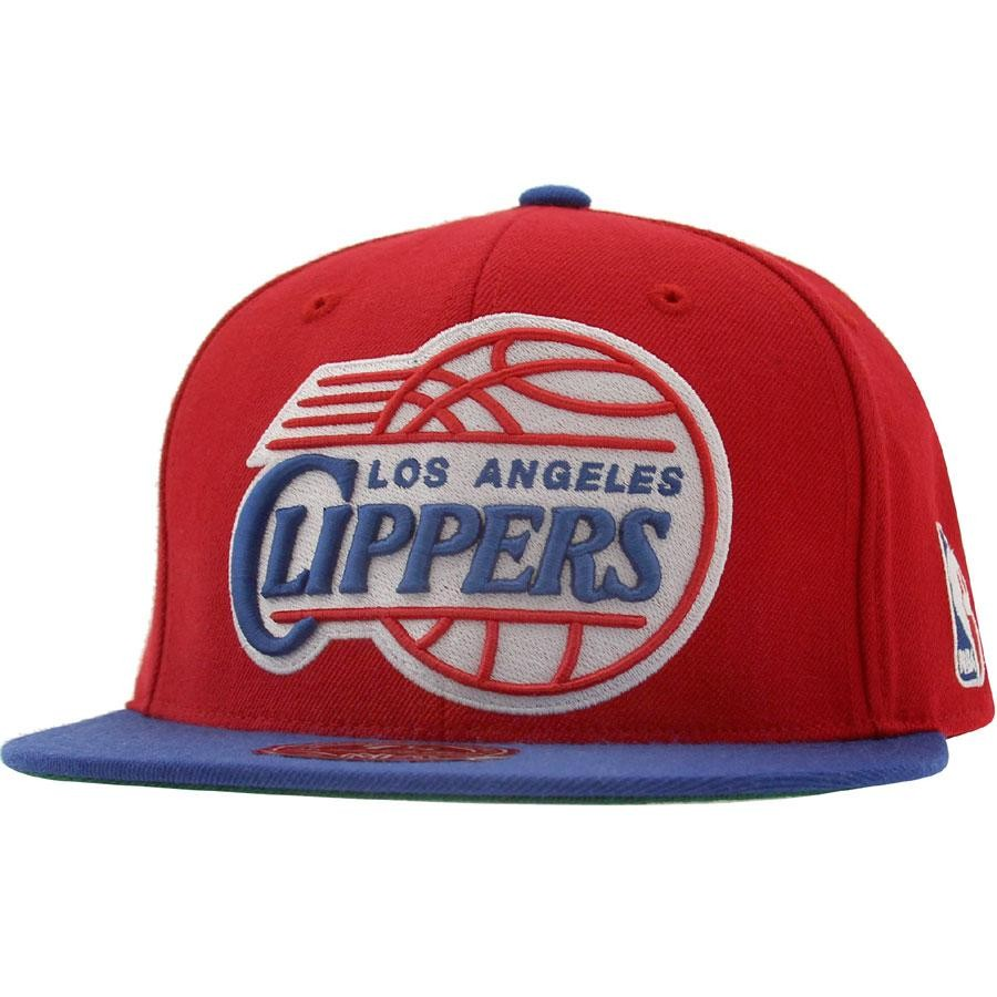 Mitchell And Ness Los Angeles Clippers FSO1 Wool Fitted Cap (red / royal)