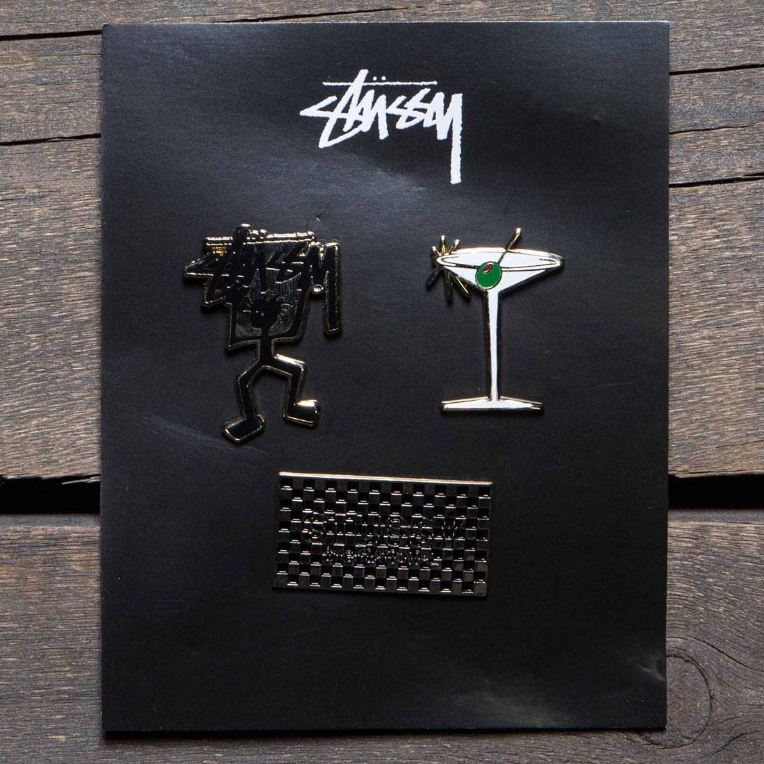 Stussy Holiday 2016 Pin Set (silver / assorted)