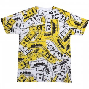 Playing For Keeps Hundred Bills Tee (white / yellow)