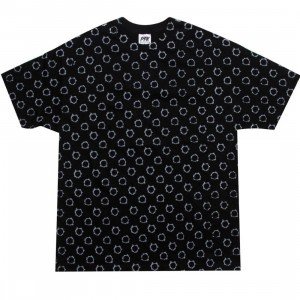 Playing For Keeps Bullet Holes Tee (black / silver)