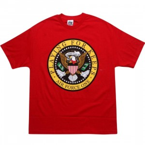 Playing For Keeps Eagle AF1 Tee (red)