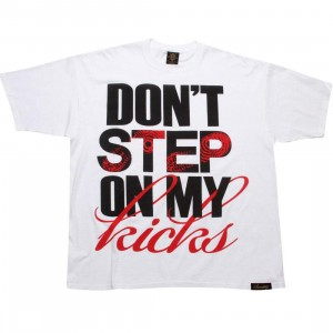 Sneaktip Dont Step On My Kicks Tee (white / black / red)