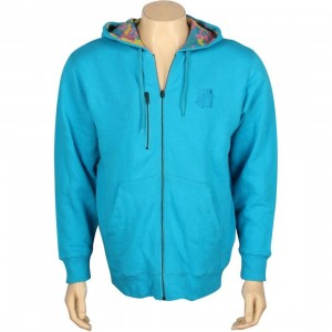 Undefeated Camo Thermal Reversible Zip Hoody (teal)