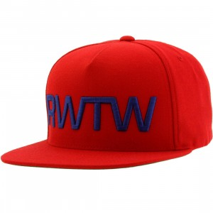 Roll With The Winner RWTW The Flag Snapback Cap (red / navy)