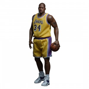 NBA x Enterbay LA Lakers Shaquille O'Neal Real Masterpiece 1/6 Scale 12 Inch Figure (yellow)