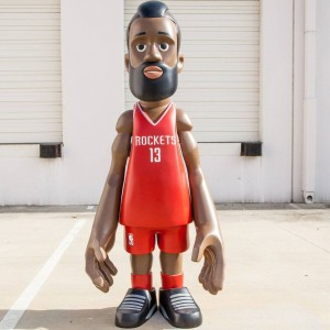 MINDstyle x NBA Houston Rockets James Harden 7 Foot Statue (red)