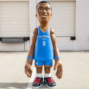 MINDstyle x NBA Oklahoma City Thunder Russell Westbrook 7 Foot Statue (blue)