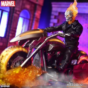 PREORDER - Mezco Toys One-12 Collective Ghost Rider And Hell Cycle Action Figure Set (black)